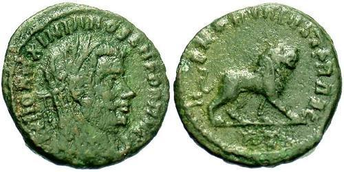 1/2 Follis Roman Empire (27BC-395) Bronze Maximianus (250-310)