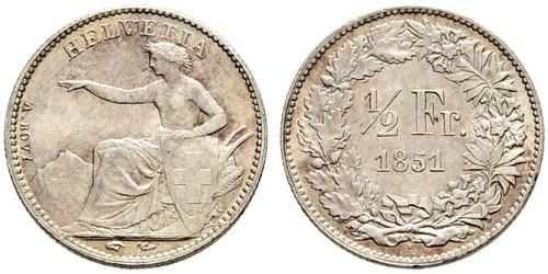 1/2 Franc Svizzera Argento