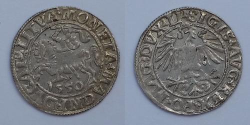 1/2 Groschen Grand Duchy of Lithuania (1236 - 1791) Silver Sigismund II Augustus (1548 - 1569)