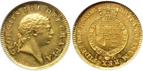 1/2 Guinea Regno Unito di Gran Bretagna e Irlanda (1801-1922) Oro Giorgio III (1738-1820)