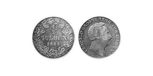 1/2 Gulden Grand Duchy of Baden (1806-1918) Silver