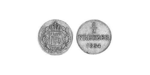 1/2 Kreuzer Kingdom of Bavaria (1806 - 1918) Copper Maximilian II of Bavaria (1811 - 1864)