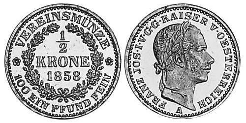 1/2 Krone Austrian Empire (1804-1867) Gold