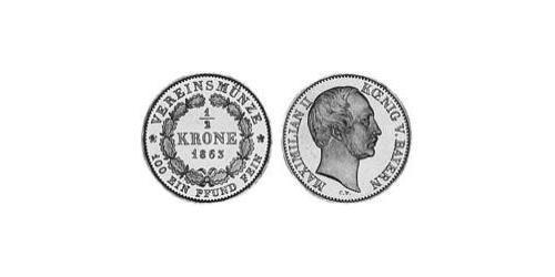 1/2 Krone Kingdom of Bavaria (1806 - 1918) Gold Maximilian II of Bavaria (1811 - 1864)