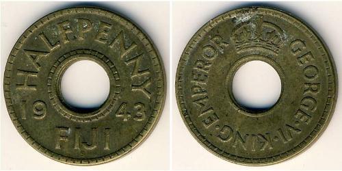 1/2 Penny Fiji Brass