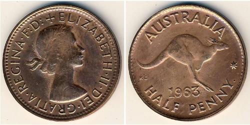 1/2 Penny Australia (1939 - ) Bronce