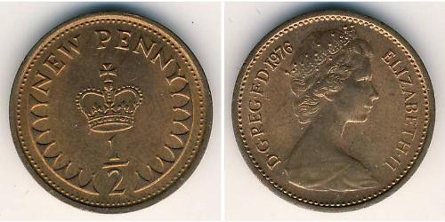 1/2 Penny Reino Unido (1922-) Bronce Isabel II (1926-)