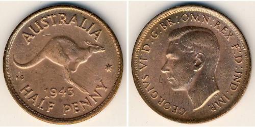 1/2 Penny Australien (1939 - ) Bronze