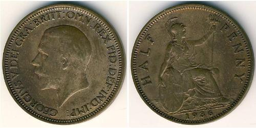 1/2 Penny United Kingdom Bronze George V of the United Kingdom (1865-1936)