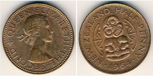 1/2 Penny Nuova Zelanda Bronzo