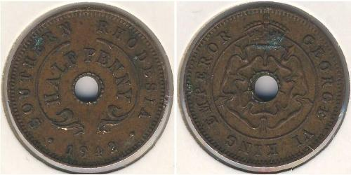 1/2 Penny Southern Rhodesia (1923-1980) Bronzo