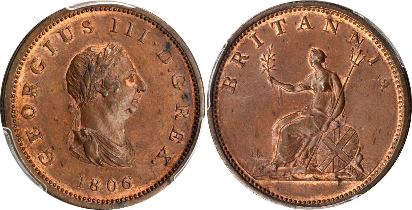 1 2 penny 1806 united kingdom of great britain and ireland for One penny homes