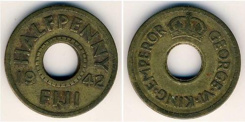 1/2 Penny Fidji Laiton