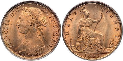 1/2 Penny 大不列颠及爱尔兰联合王国 (1801 - 1922)  维多利亚 (英国君主)