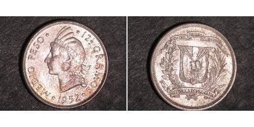 1/2 Peso 多明尼加 銀
