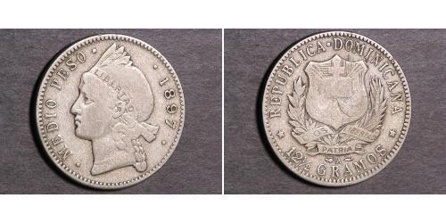 1/2 Peso  Plata