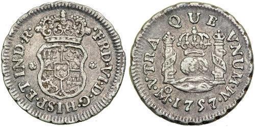 1/2 Real 新西班牙總督轄區 (1535 - 1821) 銀 费尔南多七世 (1784 - 1833)