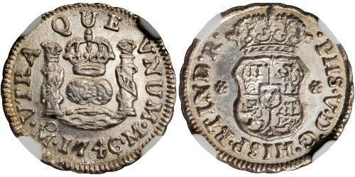 1/2 Real Nouvelle-Espagne (1519 - 1821) Argent Philippe V d