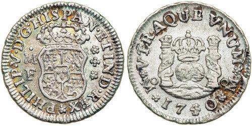 1/2 Real Virreinato de Nueva España (1519 - 1821) Plata