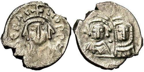 1/2 Siliqua Byzantine Empire (330-1453) Silver Heraclius (575-641)