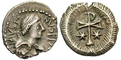1/2 Siliqua Byzantine Empire (330-1453) Silver Justin II (520-578)