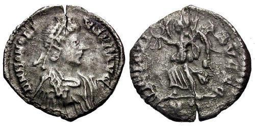 1/2 Siliqua Western Roman Empire (285-476) Silver Honorius  (384-423)