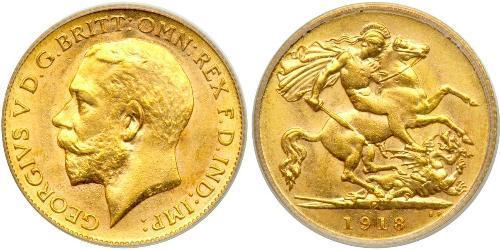 1/2 Sovereign Australia (1788 - 1939) Gold George V of the United Kingdom (1865-1936)