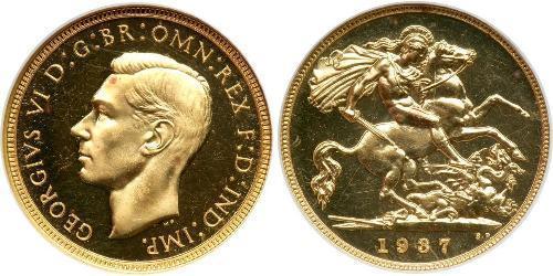1/2 Sovereign United Kingdom (1922-) Gold George VI (1895-1952)