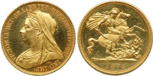 1/2 Sovereign Vereinigtes Königreich von Großbritannien und Irland (1801-1922) Gold Victoria (1819 - 1901)