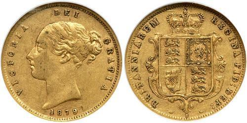 1/2 Sovereign Ôstralie (1788 - 1939) Or Victoria (1819 - 1901)