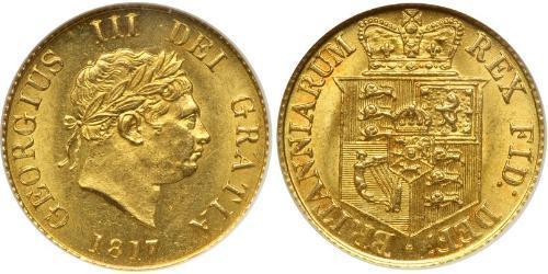 1/2 Sovereign Regno Unito di Gran Bretagna e Irlanda (1801-1922) Oro Giorgio III (1738-1820)