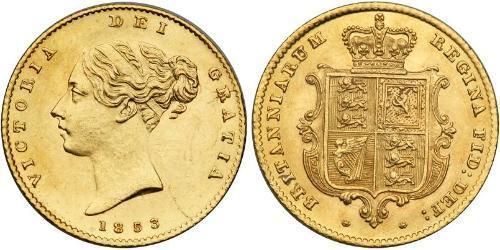 1/2 Sovereign Reino Unido de Gran Bretaña e Irlanda (1801-1922) Oro Victoria (1819 - 1901)