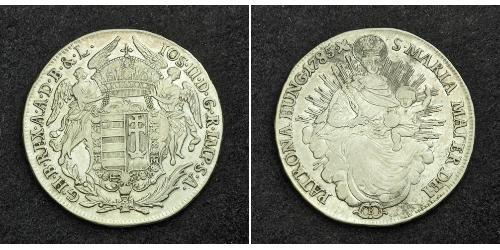 1/2 Thaler 匈牙利王国 銀 玛丽亚·特蕾西亚 (1717 - 1780)