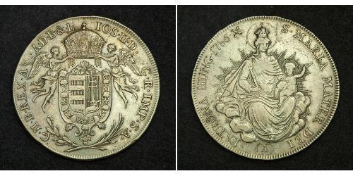 1/2 Thaler Reino de Hungría (1000-1918) Plata Joseph II, Holy Roman Emperor  (1741 - 1790)