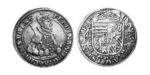 1/2 Thaler Alsace Silver Ferdinand II, Archduke of Austria (1529 – 1595)