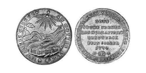 1/2 Thaler Anhalt-Bernburg-Schaumburg-Hoym (1718 - 1812) Silver Charles Louis, Prince of Anhalt-Bernburg-Schaumburg-Hoym (1723 – 1806)