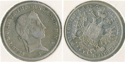 1/2 Thaler Austrian Empire (1804-1867) Silver Ferdinand I of Austria (1793 - 1875)