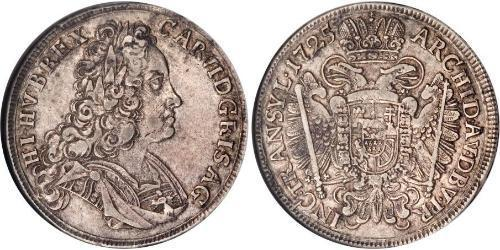 1/2 Thaler Holy Roman Empire (962-1806) Silver Charles VI, Holy Roman Emperor (1685-1740)