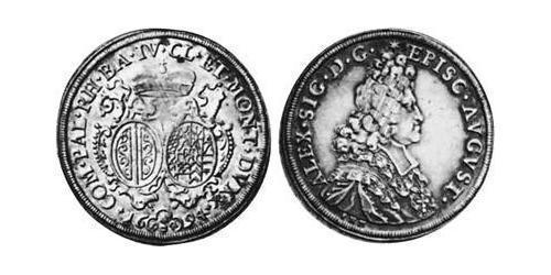 1/2 Thaler Imperial City of Augsburg (1276 - 1803) Silver Alexander Sigismund von der Pfalz-Neuburg (1663–1737)