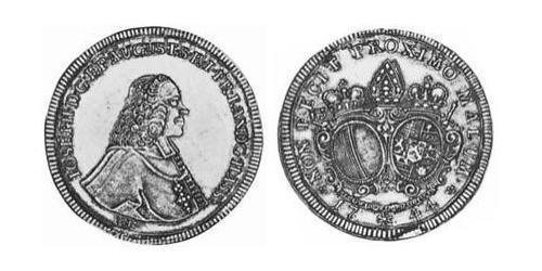 1/2 Thaler Imperial City of Augsburg (1276 - 1803) Silver Joseph Ignaz Philipp von Hessen-Darmstadt (1699–1768)