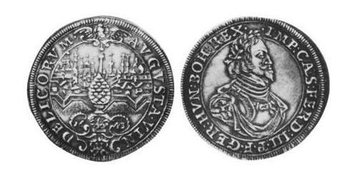1/2 Thaler Imperial City of Augsburg (1276 - 1803) Silver Ferdinand III, Holy Roman Emperor (1608-1657)