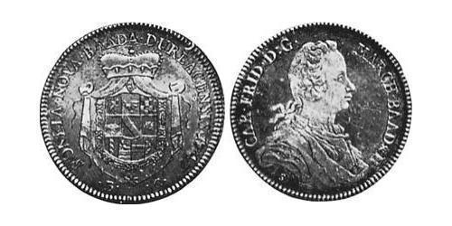1/2 Thaler Margrave of Baden-Durlach (1535 - 1771) Silver
