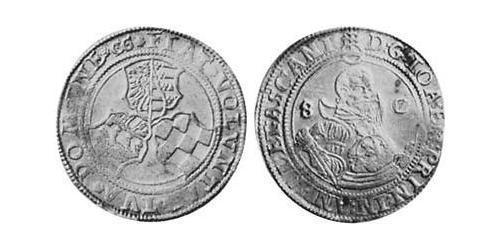 1/2 Thaler Principality of Anhalt (1212 - 1806) Silver Joachim Ernest, Prince of Anhalt (1536 – 1586)