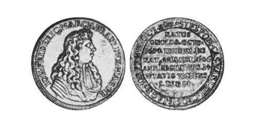1/2 Thaler Principality of Ansbach (1398–1792) Silver John Frederick, Margrave of Brandenburg-Ansbach (1654 – 1686)