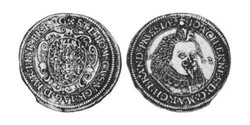 1/2 Thaler Principality of Ansbach (1398–1792) Silver Joachim Ernst, Margrave of Brandenburg-Ansbach (1583 – 1625)