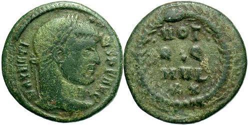 1/3 Follis Western Roman Empire (285-476) Bronze Maxentius (278-312)