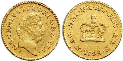 1/3 Guinea 大不列顛王國 (1707 - 1800) 金 喬治三世 (1738-1820)