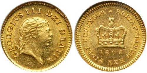 1/3 Guinea Regno Unito di Gran Bretagna e Irlanda (1801-1922) Oro Giorgio III (1738-1820)