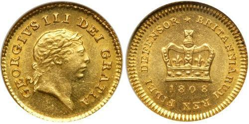 1/3 Guinea Reino Unido de Gran Bretaña e Irlanda (1801-1922) Oro Jorge III (1738-1820)