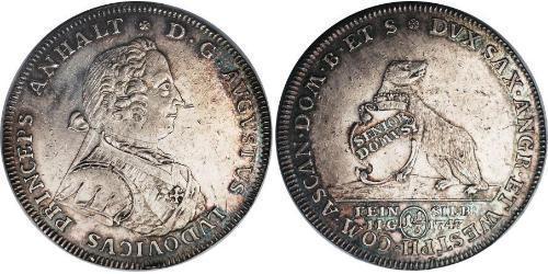 1/3 Reichstaler Principality of Anhalt-Köthen (1603 -1853) Silver Augustus Louis, Prince of Anhalt-Köthen (1697 – 1755)